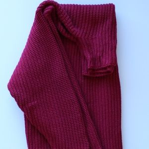 american eagle oversized cranberry sweater